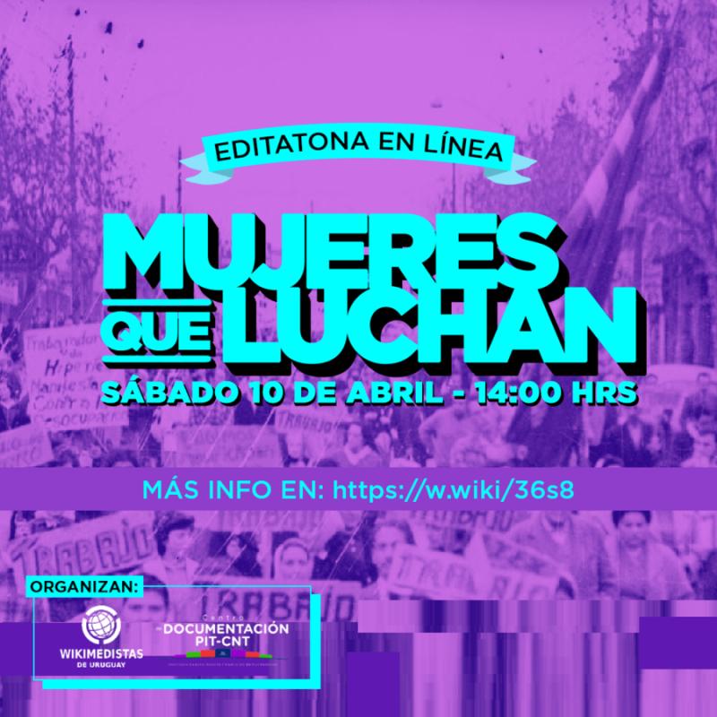 """Afiche para el Conversatorio """"Mujeres que luchan y el acceso a la información"""""""